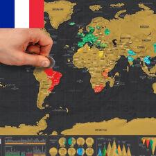 NOUVEAU FRANCE !   Carte du monde / Planisphère à GRATTER !   Mappemonde