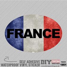 France voiture étrangère grunge drapeau à l'étranger auto adhésif en vinyle autocollant decal fenêtre c