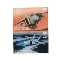 MiniHobbyModels 2PCS 1:144 Aircraft Fighter Model MIG-25P MiG-23 Assemble Kit