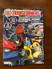 Tranformers Robots in Disguise Sticker Scene book