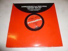 "GAMBAFREAKS feat PACO RIVAZ - Instant Replay - UK 4-track 12"" Vinyl Single - Pro"