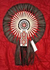 "Horsehair Bustle w Beadwork Navajo Native American Indian Regalia 17x24"" #17"