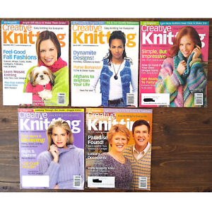 LOT of 5 CREATIVE KNITTING Magazines '05-'06.  Total of 208 Patterns!!