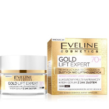 Eveline Luxury Multi Repair Cream Serum 24K Gold Day Night Gold Lift Expert 70+