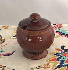 Vintage Fiestaware Amberstone Marmalade Jar Fiesta Sheffield Brown Jam Jelly Jar