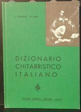 CARFAGNA - GANGI - Dizionario chitarristico italiano - ed Berben