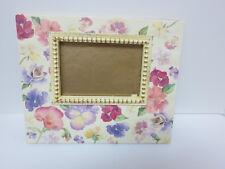 "Lady Jayne Ltd 7"" x 9"" Pansy Frame #1207 holds 5"" x 3.5"" photo- can hang"