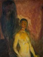 Edvard Munch: Self-Portrait in Hell. Fine Art Print/Poster