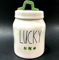 Rae Dunn by Magenta St. Patrick's Day Shamrock LUCKY Canister Small NEW