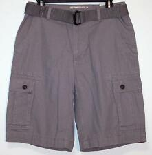 NWT Men's Arizona Belted Cargo Shorts Size 30 Vintage Nickel Gray 100% Cotton