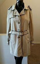 Tommy Hilfiger Womans Khaki/Beige  Trench Coat Size Large