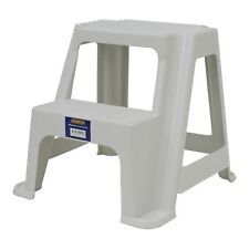 Syneco 2 Step Plastic Stool Weight capacity of 100kg Large Platform Top Step