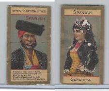 N240 Kinney, Types of Nationalities, 1890, Spanish (3 Tabs)