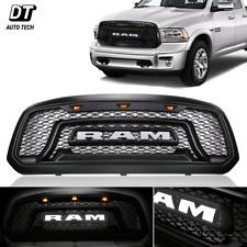 2013-2018 Dodge Ram 1500 Mesh Grille Rebel Style Front Grill Hood LED Light