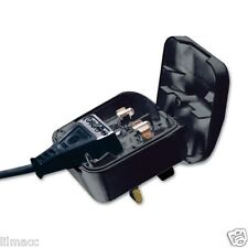 Euro Converter Adaptor EU 2 Pin Plug to UK 3 Pin Travel Mains Power Connection