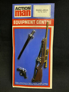 VINTAGE ACTION MAN - SMALL ARMS CARD - Cat no  34276 HUNTING RIFLE etc
