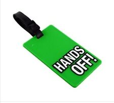Luggage Tag Hands Off! Suitcase Travel Tags Holiday Label Rubber Humour Gift Fun