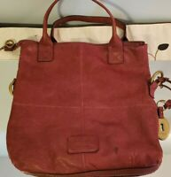 Fossil Leather Burgundy Red Tote Handbag Purse