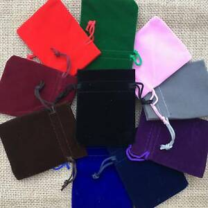 Multi-Color Velvet Bags Jewelry Wedding Party Favors Gifts Drawstring Pouches