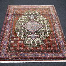 Orient Teppich Beige 165 x 124 cm Rot Perserteppich Herati Muster Old Carpet Rug