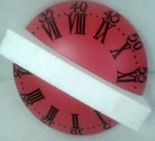 Wand Uhr rund pink Antik Deko Mobiliar Interieur Vintage Art Deco Stil Geschenk