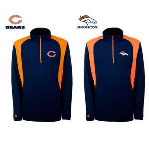 Chicago Bears Denver Broncos NFL Men's Quarter Zip Pullover Antigua 1/4 RP $75
