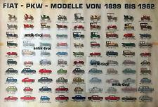 + Original Plakat von 1962 FIAT Modelle