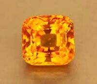 ZAFIRO CUSHION PADPARADSCHA NARANJA 12x12 mm. SUELTO DUREZA 9 BRILLO-DIAMANTE