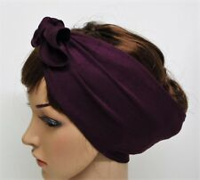 Tie Up Hair Scarf, Rockabilly Headband, Stretchy Hair Tie, Bandanna Pin Up Scarf