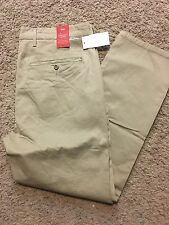 Levis Straight Leg Chino Pant WStretch Mens Flat Front KhakiTan 29X32 $60 NEW