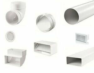 Abluftschlauch PVC Rohr Rückstauklappe Adapter Klimaanlage Abluf 100 125 150 mm