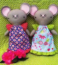 PATTERN - Monty & Moo - cute wool felt softie mice PATTERN - Two Brown Birds
