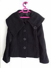 Ladies Black Wool Jacket from Monsoon Size 12