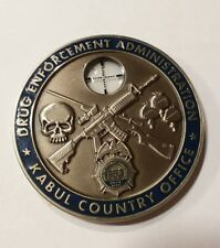 RARE DEA Challenge Coin Kabul Country Office Sniper with Scope Kandahar