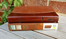 NIB! 1995 NASB Thinline Bible, Compact Brown Leathersoft Red Letter w Magnifier!