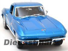 MAISTO 1:18 1965 CHEVY CORVETTE STINGRAY DIECAST MODEL CAR BLUE 31640