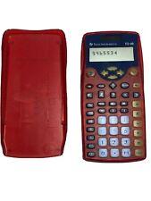 TI-10 Texas Instruments Calculator Transparent Red Case