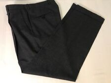 Hickey Freeman Mens Dress Pants Dark Gray Charcoal Pleated Cuffed Wool Sz 33 EUC