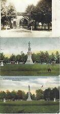1908 era SOLDIER'S MONUMENT, MEDINA, OHIO PICTURE POSTCARDS