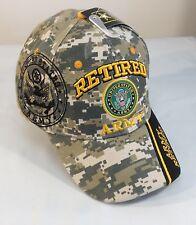 US Army RETIRED Ball Cap Korea Vietnam Gulf War OIF OEF Veteran Hat DIGITAL CAMO