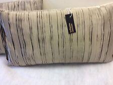 pkt 2 exclusive zinc designer pleated silk/velvet bolster cushions manray mink