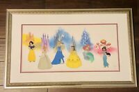 HTF Disney's 75th Anniversary Parade Of Princesses Limited Ed Framed Sericel