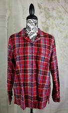 Crazy Hourse womens button down long sleeve check print shirt size large B17a