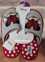 Disney Ladies Slippers Minnie Mouse Women/'s Slip On Christmas Gift NEW Primark