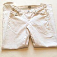 J Crew Womens White Toothpick Jeans Stretchy Skinny Size 28