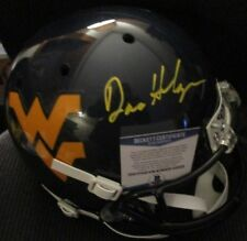 DANA HOLGORSEN WEST VIRGINA MOUNTAINEERS SIGNED FULL SIZE HELMET BECKETT COA