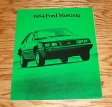 Original 1984 Ford Mustang Sales Brochure 84 SVO GT LX