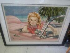 "Colleen Ross Serigraph ""Bird of Paradise"" FRAMED 1955-1956-1957 FORD THUNDERBIRD"