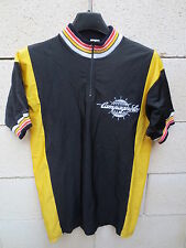 VINTAGE Maillot cycliste CAMPAGNOLO noir 80's cycling jersey maglia trikot 3
