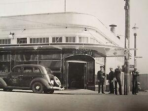 ANTIQUE 1936 BREMERTON WA US NAVY DRIFT INN NEON SIGN SEATTLE 808 TAXI ART PHOTO